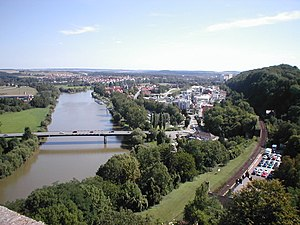Bad Wimpfen - view from the Roter Turm (Red tower) onto Wimpfen im Tal