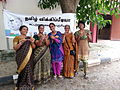Women Wikipedians at Tamil Wikipedia 10 years celebration మహిళా వికీపీడియనులు, తమిళ వికీపీడియా 10 వ వార్షికోత్సవ సంబరాలు.jpg