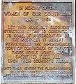Women of the Confederacy plaque, Jacksonville, FL, US.jpg