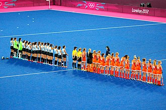 Field hockey at the 2012 Summer Olympics – Women's tournament - The final: Argentina and Netherlands