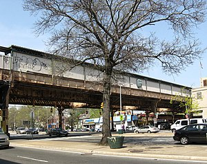 Woodhaven Boulevard (BMT Jamaica Line) - From the street, looking northeast.