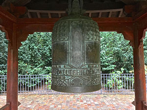 Volkspark Friedrichshain - The Peace Bell, given to East Berlin as a gift from Japan.
