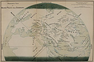 The Travels of Marco Polo - The probable view of Marco Polo's own geography (drawn by Henry Yule, 1871).