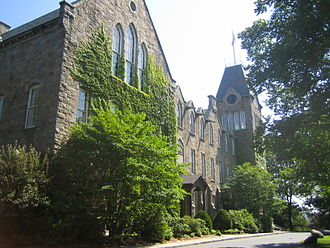 Worcester Polytechnic Institute - Boynton Hall, WPI's main administrative building.