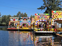 Trajinera boats at Xochimilco