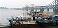 Yalu River Sino-Korean Friendship Bridge as seen From Dandong, China 2002.jpg
