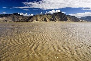 Yarlung Tsangpo river in Tibet.