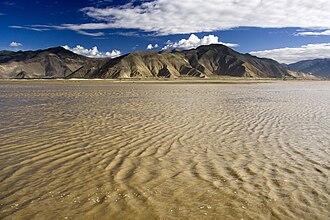 Brahmaputra River - Yarlung Tsangpo River in Tibet.