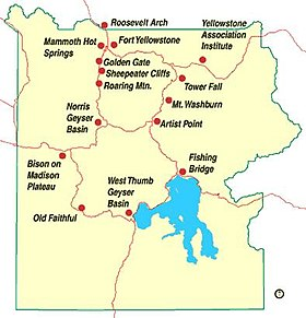 Carte De Yellowstone Park.Parc National De Yellowstone Wikipedia