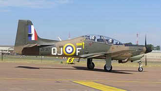 Short Tucano - Royal Air Force Tucano in 2010 painted for the 70th Anniversary of the Battle of Britain to represent a Spitfire of No. 92 Squadron RAF as flown by Brian Kingcome in 1940