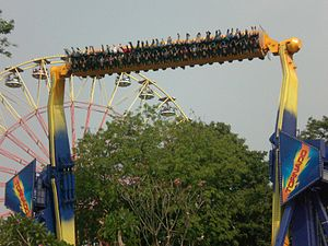 Top Spin (ride) - Tornado at Dunia Fantasi Jakarta (Zamperla Backflash - Suspended Windshear)