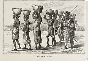 Zanzibar - A Zanj slave gang in Zanzibar (1889)