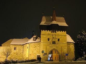 Louny - Old town gate, Žatecká brana