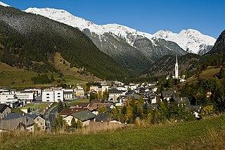 Zernez Place in Graubünden, Switzerland