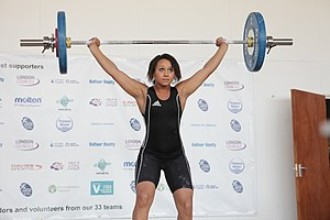 London Youth Games - Zoe Smith weightlifting at the London Youth Games