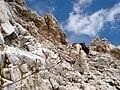 Zugspitze, ascend from Zugspitzplatt, 2008-08-13.jpg