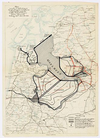 Markerwaard - Image: Zuiderzeewerken Lely plan