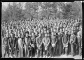 """A group of several hundred workers at Norris Dam construction campsite during noon hour."" - NARA - 532733.tif"