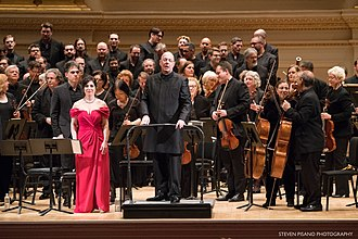 Leon Botstein - Botstein and the American Symphony Orchestra after a performance of Intolleranza by Luigi Dallapiccola at Carnegie Hall in 2018.