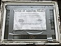 """Notice of Asbestos Project"" sign, Vacant house, 700 Homestead Street, Baltimore, MD 21218 (39875675020).jpg"