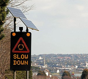 """Slow down"" sign, Newtownards (2) Se..."