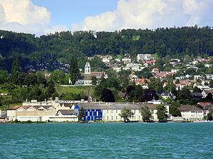 'Chemische' in Uetikon am See, Ansicht vom Dampfschiff Stadt Zürich 2012-07-22 16-34-01 (P7000).JPG