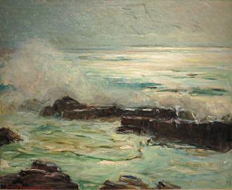 George Burroughs Torrey - Seascape, oil on canvas, c. 1935, Honolulu Museum of Art