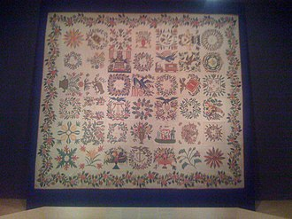 Baltimore album quilts - An Album Quilt (c. 1850), part of the collection at the Baltimore Museum of Art.