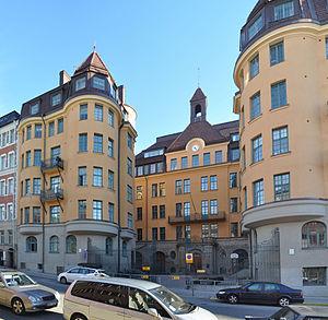 Åhlinska skolan - The former buildings of Åhlinska skolan on Dalagatan 16-18 today house Lilla Adolf Fredriks skola.