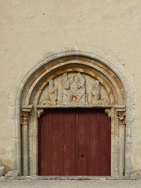 Portail de l'église Saint-Gengoult d'Annéot