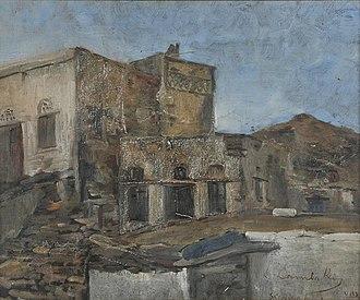 Emmanouil Lampakis - Image: Λαμπάκης Εμμανουήλ Σκλαβοχώρι, το σπίτι του Γύζη