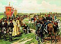 Кутузов перед битвой при Бородино (литография Н.С. Самокиша).jpg