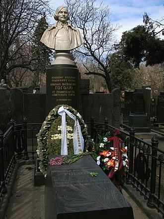Nikolai Gogol - Gogol's grave at the Novodevichy Cemetery