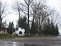 Футбольний м'яч біля спорткомплексу в Бурштині.jpg