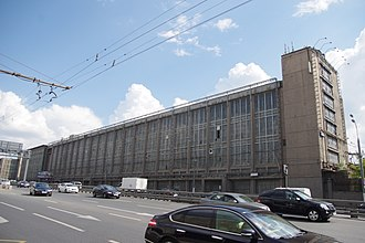ZiL - Plant buildings facade at Avtozavodskaya street, demolished in 2014