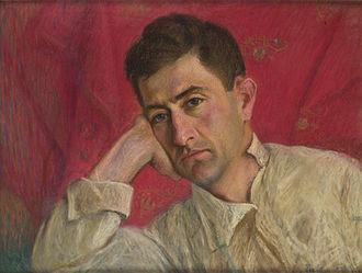 Axel Bakunts - Axel Bakunts's portrait by Panos Terlemezian, 1932