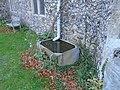 -2019-11-25 Old rain water tank, All Saints church, Weybourne.JPG