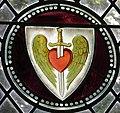 -2021-09-15 Sacred Heart of Jesus Christ, stained glass window, Saint Andrew's, Felmingham, Norfolk.JPG