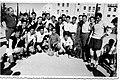""".קבוצת הכדורגל מכבי ירושלים במשחק דרבי מול בית""""ר ירושלים - יום טורינו 1950.jpg"""