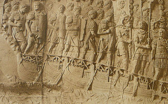 Lorica segmentata - Image: 007 Conrad Cichorius, Die Reliefs der Traianssäule, Tafel VII (Ausschnitt 01)