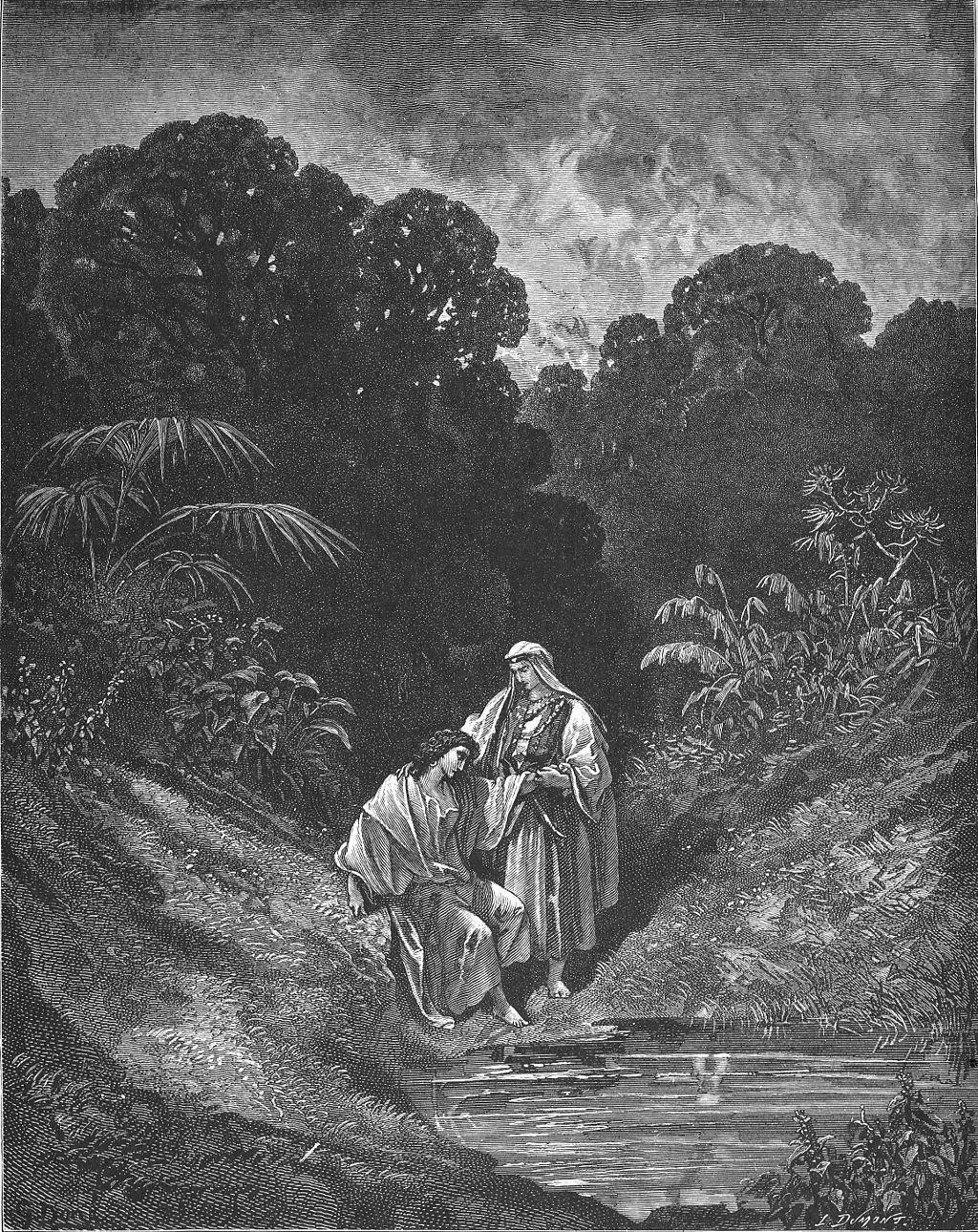 다윗과 요나단 (귀스타브 도레, Gustave Doré, 1866년)