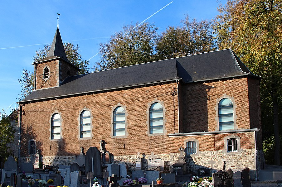 Harlue (Belgium), the Saint Martin's church (XVIII century).