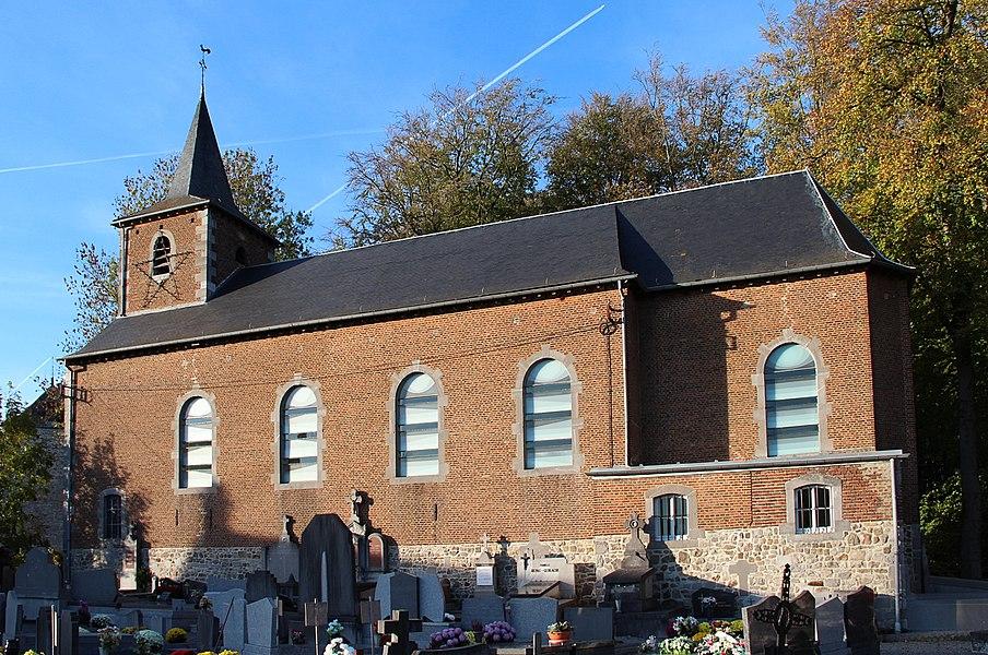 Harlue (Belgium), the Saint Martin's church (XVIII century).