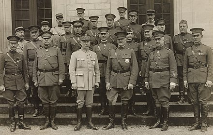 Philippe Petain and John J. Pershing were decorated with the Grand-croix of the Legion of Honor, as were several US generals with the Commandeur and Chevalier medal shortly after World War I in 1919. 111-SC-38214 - NARA - 55235582-cropped.jpg