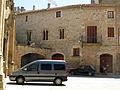 118 Castell, plaça del Bisbe Comelles, detall.jpg