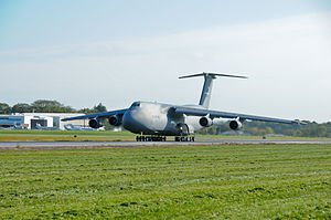 137th Airlift Squadron - The last 105th Airlift Wing based C-5A Galaxy, tail number 0001, on take-off roll leaving its Hudson Valley home for the last time Sept. 19, 2012.