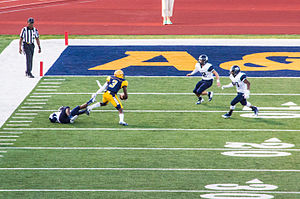 East Texas Baptist University - The East Texas Baptist football team in action against the Texas A&M–Commerce Lions in 2014