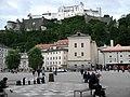 1593 - Salzburg - Kapitelplatz - Festung Hohensalzburg.JPG