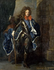 1694 Portrait of Louis de Bourbon, Prince of Condé from the workshop of Rigaud (Versailles).jpg