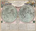 1707 Homann and Doppelmayr Map of the Moon - Geographicus - TabulaSelenographicaMoon-doppelmayr-1707.jpg